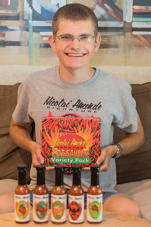 Nicolai Amende started Nicolai Amende Signature Hot Sauces seven years ago. His hot sauces can be found at Hilltop Meat Market, Wooden Spoon, Blue Sky Mercantile, Welsh Heritage Farms, Cheese and Pie Mongers in St. Peter and the Yellow Barn.