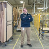Dennis Skluzacek, plant manager of Elkay Wood Products, in one of the main aisles at the company's building in New Ulm. Photo by Jackson Forderer