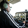 Tim Campell from Eagle East Aviation located at Lawrence Municipal Airport.<br /> Photo by Amy Sweeney