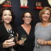 Toasting the new store opening, at left, Michelle Corey of North Andover and Carina & Company, Andover, Jennifer Johnson of North Carolina, sister of co-owner with Michelle Jacobson of Andover, sales consultant, at the Grand Opening of Sole Amour store, 10 Post Office Avenue, Andover.<br /> 4-28-11,  Photo by Frank J. Leone, Jr.