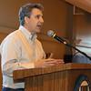 City Desk, North Andover: Featured speaker, Steve Vintner of Google, Boston, addresses the audience,<br /> at the Merrimack Valley Sandbox Initiative Celebration Campus Catalyst, Thursday, at Merrimack College, North Andover.<br /> 5-5-11,  Photo by Frank J. Leone, Jr.