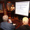 Andover: Certified  Financial Planner John Spoto of Andover and Sentry Financial Planning speaks to attendees about retirement planning,<br /> at the Ingrediants for a Secure and Healthy Retirement Seminar, Thursday, at Andover Historical Society, Andover.<br /> 5-5-11,  Photo by Frank J. Leone, Jr.