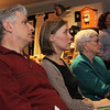 City Desk, Andover:  Listening to Certified Financial Planner John Spoto's presentation, at left, Bob and Liane Moccia with Dot Hollenbeck, all of Andover,<br /> at the Ingrediants for a Secure and Healthy Retirement Seminar, Thursday, at Andover Historical Society, Andover.<br /> 5-5-11,  Photo by Frank J. Leone, Jr.