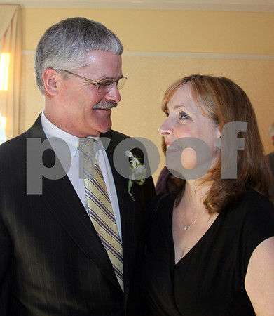 Image # 6579:   Photo by Frank J. Leone, Jr.   Evening's honoree Scott Cote and his wife Debbie, of Derry, he received the 2nd Annual<br /> Legacy of Leading award, he is president and CEO of Pentucket Bank,<br /> at the Legacy of Leading Gala Sponsored by Merrimack Valley Hospice, Friday, Atkinson Country Club, Atkinson, NH.<br /> 4-13-12