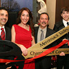 Photo by Frank J. Leone, Jr.     Cutting the ribbon, at left, Sean O'Clare, Lana Grelle, proprietor/owner and master stylist, Will Smith, vice-president, Merrimack Valley Chamber of Commerce and Anthony Grelle, Lana's son, all of Methuen, at the Grand Opening of Aphrodite's Salon and Spa, Friday, 354 North Main Street, Andover.