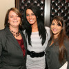 Photo by Frank J. Leone, Jr.   At left, in the reception area, Darlene Orr of Lowell, salon coordinator, Chantal<br /> Deforge of North Andover, esthetician and Tia Boyle of Groveland, stylist,          <br /> at the Grand Opening of Aphrodite's Salon and Spa, Friday, 354 North Main Street, Andover.<br /> 11/11/11