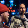 "Elizabeth ""Betty"" Harsma (right) sings a song with Dave ""Ocho"" O'Connell as they kicked off an open mic night at Pub 500. Betty said she sings, plays guitar, piano and hand percussion, sometimes as a solo act and sometimes as a duet with Ocho. Photo by Jackson Forderer"