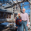 Kathy Brynaert and her husband Tony Filipovitch outside of their home in West Mankato. The two had never lived in a city smaller than Mankato before moving here 42 years ago.