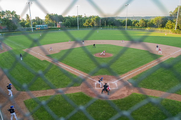 The New Ulm Brewers bat against the Gibbon Reds at Johnson Park in New Ulm. Photo by Jackson Forderer