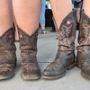 Teighlor Schmuck (left) from Mankato and Kari Schumacher  (right) from Sleepy Eye donned their cowboy boots for the Gary Allan concert. Photo by Jackson Forderer