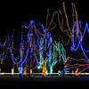A portion of Sibley Park is lit up by some of the one million lights being set up for the Kiwanis Holiday Lights Friday.