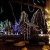 A portion of the Sibley Park zoo is lit up with Christmas lights as organizers of the Kiwanis Holiday Lights flipped the switches on part of the display for the first time Friday night.