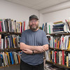 Curt Germundson in his office at Minnesota State University. Photo by Jackson Forderer