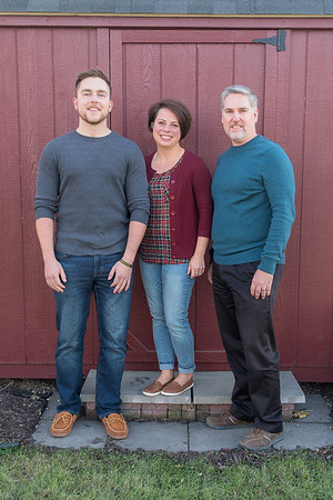 Shawna Merrill (center) with her husband Cory (right) and son Alex (left). Photo by Jackson Forderer