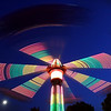 Pat Christman<br /> The Hurricane spins through the night sky during the opening night of the North Mankato Fun Days midway.