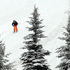 A skier makes his way down one of the open runs at Mt. Kato Friday. The ski hill opened today.