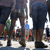 John Cross<br /> Muddy team members are photographed following the Mankato Mud Run Saturday at Good Counsel Hill.