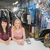 Eiko Takahashi (left) and Lisa Scholl at Like Nu Dry Cleaners. The business on Belgrade Ave. in North Mankato is an organic dry cleaner, meaning it produces no harmful chemicals or hazardous waste like most other dry cleaners. Photo by Jackson Forderer