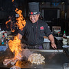 Pretrick Andy, a hibachi chef at Shogun, cooks steak and chicken for the restaurant's patrons with some flare. The restaurant also creates fresh sushi rolls and sashimi dinners. Photo by Jackson Forderer