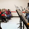 John Cross<br /> West High School musicians demonstrate woodwind instruments to area third-graders Friday.