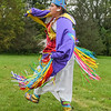 Dawn Stempson of the Flandreau Santee Sioux Tribe performs a fancy shawl dance at Land of Memories Park during an educational demonstration for sixth-grade students from Prairie Winds Middle School. Various Native educational demonstrations were given to sixth-graders from Dakota Meadows and Prairie Winds middle schools as part of their curriculum about Minnesota history. Photo by Jackson Forderer