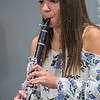 Clarinet phenom Maddie Ceminsky, 15, practices the clarinet during a music lesson with her instructor Hunter Ellis. Ceminsky will be a junior this year and has been playing the clarinet for five years. Photo by Jackson Forderer