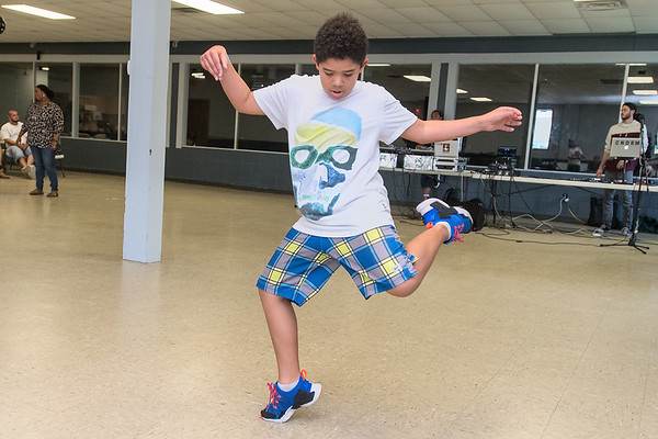Ody Uddley, 10, dances at Revival Sessions 2, a hip hop celebration held at the Caledonia Community Center. Photo by Jackson Forderer