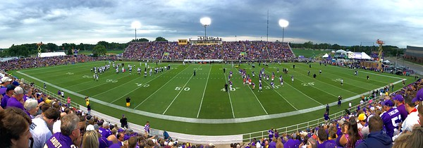 Vikings night practice panorama