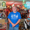 Steve Miner in his first of two large rooms dedicated to Hamm's Beer collectibles in Winnebago, Minn. Photo by Jackson Forderer