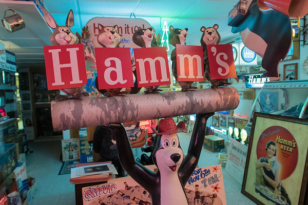 One of the larger Hamm's Beer displays in Steve Miner's large collection in Winnebago, Minn. Photo by Jackson Forderer