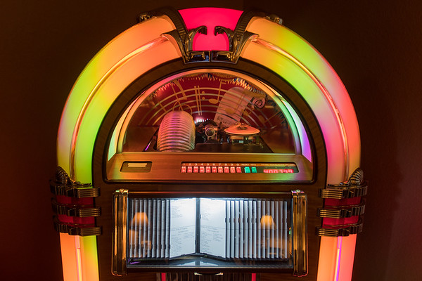 Steve Miner also has 14 jukeboxes in his collection. Miner refurbished this particular jukebox to play CDs. Photo by Jackson Forderer
