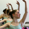 Jaelyn Angelo, 12, of Lynn, during class at the Boston Ballet School at the Lynch/van Otterloo YMCA in Marblehead. David Le/Staff Photo David Le/Staff Photo