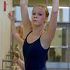 Emily Jelinek, 16, of Topsfield, during class at the Boston Ballet School. David Le/Staff Photo