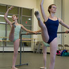Sofia Camelo, 12, of Salem, left, and Emily Everett, 17, of South Hamilton, during dance class. David Le/Staff Photo