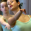 Adriana Termeer, 12, of Marblehead will play a Soldier Girl in the Boston Ballet's The Nutcracker this winter. She dances in class at the Lynch/van Otterloo YMCA. David Le/Staff Photo