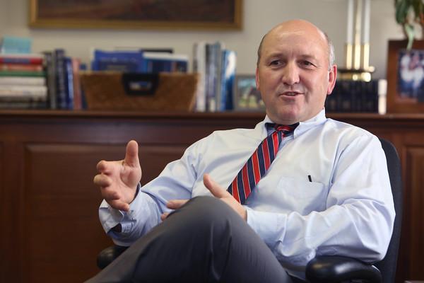 KEN YUSZKUS/Staff photo.        First Ipswich President/CEO Russ Cole.      9/3/15.