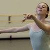 Bailey Regan, 13, of North Andover, during dance rehearsal at the Boston Ballet School at the Lynch/van Otterloo YMCA in Marblehead. David Le/Staff Photo