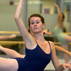 Emily Everett, 17, of South Hamilton, dances at the Boston Ballet School at the Lynch/van Otterloo YMCA in Marblehead. David Le/Staff Photo