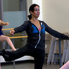 Evelyn Cisneros-Legate, a former dancer for the San Fransisco ballet for many years now leads the Boston Ballet School in Marblehead, preparing girls for potential roles in the Boston Ballet's The Nutcracker. David Le/Staff Photo