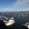 DAVID LE/Staff photo. Views off the back second floor porch of the Boston Yacht Club.