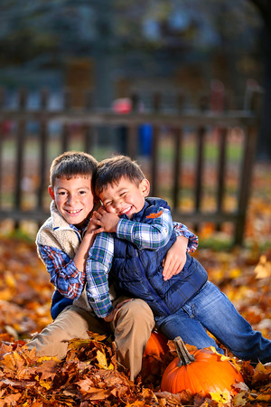 Photo by David Le<br /> Marblehead brothers Jeremy, left, and Wyatt Pollender play in the leaves at Gatchell Playground in November 2015. Jeremy  is a fifth-grader this year at the Village School, and Wyatt is a pre-K student at the Glover School.