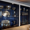 DAVID LE/Staff photo. The Boston Yacht Club has numerous of trophy cases throughout the club.