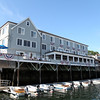 DAVID LE/Staff photo. Exterior view from the water looking up at the Boston Yacht Club.