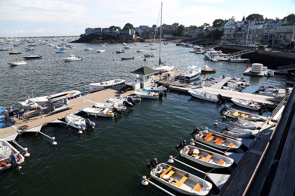 DAVID LE/Staff photo. The launch docks at the Boston Yacht Club.