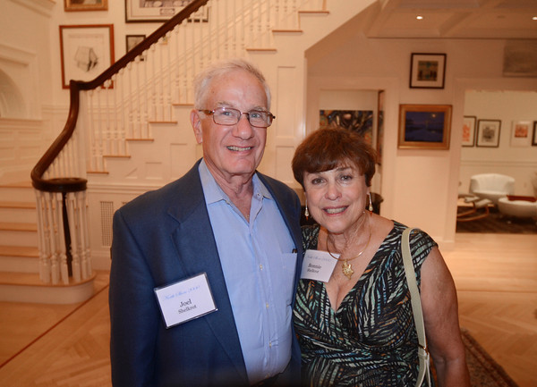 Joel and Bonnie Shelkrot of Magnolia attend a special event Sept. 11 organized by the Anti-Defamation League of New England to thank North Shore donors for their commitment to the organization. Salem Police Chief Paul Tucker spoke at the event, which was held at the home of Alexander and Nora Falk. Tucker discussed his recent Law Enforcement Mission to Israel with ADL, how it helped connect him with other local law enforcers, and how they are now helping him keep Salem safe for the Haunted Happenings season.