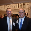 Salem Police Chief Paul Tucker, left, and Jim Rudolph of Marblehead, chair of the Anti-Defamation League of New England Board of Overseers, attend a special event Sept. 11 organized by the Anti-Defamation League of New England to thank North Shore donors for their commitment to the organization. Chief Tucker spoke at the event, which was held at the home of Alexander and Nora Falk. Tucker discussed his recent Law Enforcement Mission to Israel with ADL, how it helped connect him with other local law enforcers, and how they are now helping him keep Salem safe for the Haunted Happenings season.