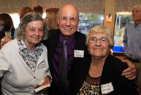 Marblehead: From left, Betty Churchill, and Paul and Claire Crosby, at the Marblehead Chamber of Commerce's Annual Meeting held at The Landing. David Le/Marblehead Home & Style Magazine