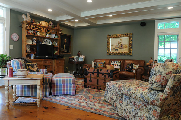 MARBLEHEAD HOME AND STYLE Magazine:<br /> The great room at the home of Artha Gerland at 11 Manataug Trail in Marblehead.<br /> <br /> Photo by Ken Yuszkus / Salem News, Friday, July 12, 2013.