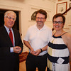 Jeff Robbins, left, regional board chair for the Anti-Defamation League, visits with hosts Alexander and Nora Falk during a special event Sept. 11 organized by the ADL of New England to thank North Shore donors for their commitment to the organization. Salem Police Chief Paul Tucker spoke at the event, held at the Falk home. Tucker discussed his recent Law Enforcement Mission to Israel with ADL, how it helped connect him with other local law enforcers, and how they are now helping him keep Salem safe for the Haunted Happenings season.