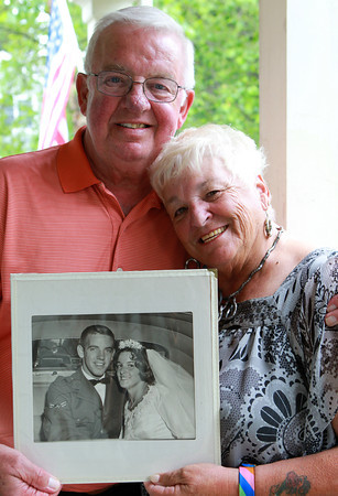"Marblehead: Longtime Marblehead residents John and Johanna ""Josie"" Crowley, will be celebrating their 51st wedding anniversary in September. David Le/Marblehead Home and Style Magazine"